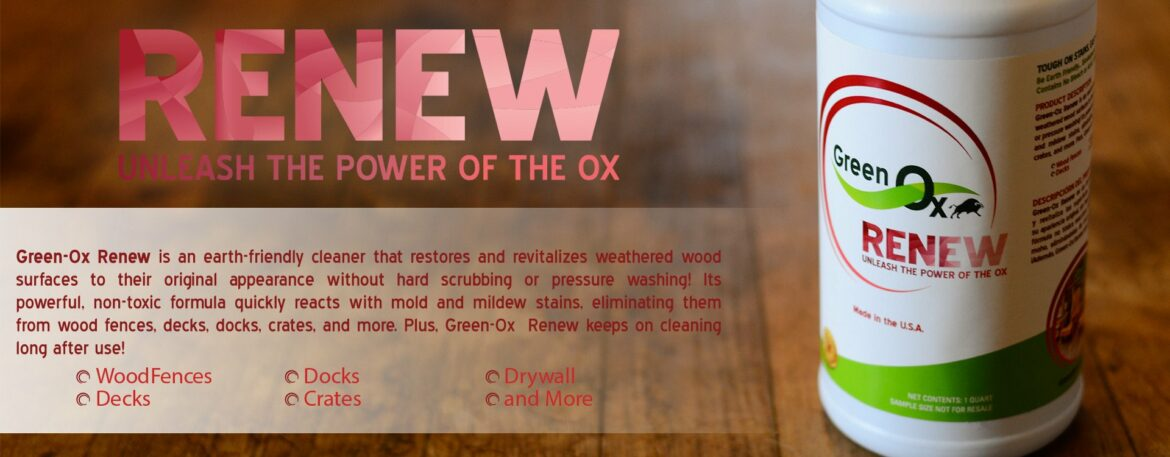 Green-Ox Renew by GreenFlow Distribution - Earth-Friendly Cleaner Restores and Revitalizes